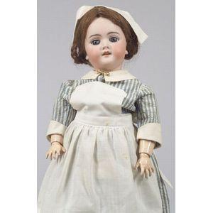 Handwerck 109 Bisque Head Girl in Nurse