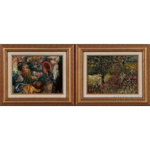 Vladimir Lebedev (Russian, 1910-1989)    Two Paintings with Female Figures