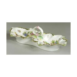 Herend Porcelain Two-part Serving Dish, Hungary, modern,
