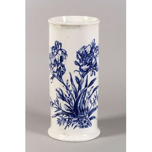 English Blue and White Transfer-print Decorated Pottery Cane Stand
