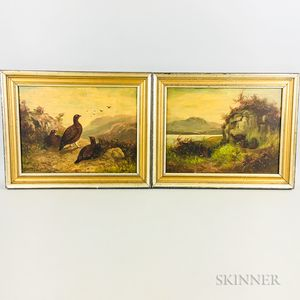 Two Framed Continental School Oil on Panel Works Depicting Quails