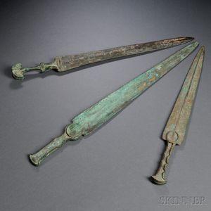 Three Bronze Daggers