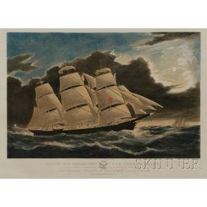 Nathaniel Currier, publisher (American, 1813-1888)      Clipper Ship Dreadnought Off Tuskar Light