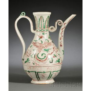 Iron-red and Green Wine Ewer