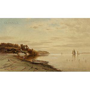 George Herbert McCord (American, 1849-1909)      Hudson River Scene