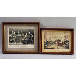 Two Framed Engravings
