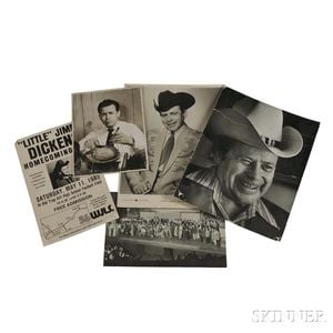 Five Publicity Images of Little Jimmy Dickens