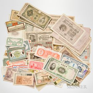 Large Group of World Currency