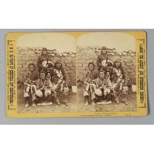 "Stereocard ""Group of Pueblo Tesuque Indians"""
