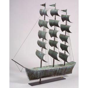 Molded Sheet Copper Ship Weathervane