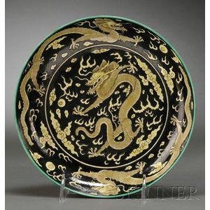 Porcelain Dragon Dish
