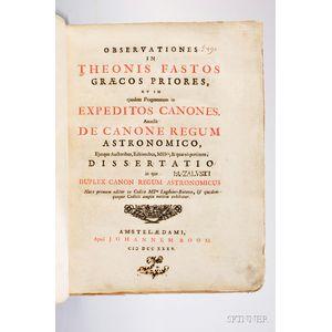 Hagen, Joannes van der, (1665-1739) and Theon of Alexandria (c. AD 335-c. 405) Observationes in Theonis Fastos.