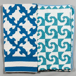 Two Blue and White Quilts