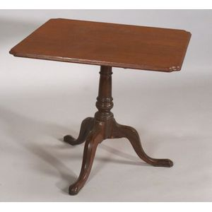 Chippendale Walnut Tilt-top Tea Table