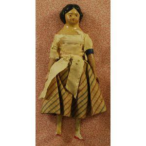 Papier-Mache Dollhouse Doll