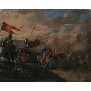 School of Pandolfo Reschi (Polish, 1643-1699)      Battle Scene