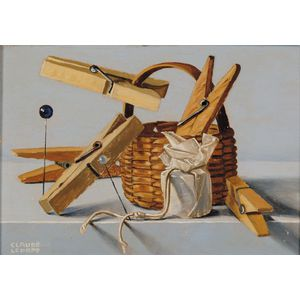 Claude Lepape (French, b. 1913)      Clothespins and Basket
