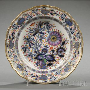 Three Meissen Porcelain Polychrome Blue Onion Decorated Soup Bowls