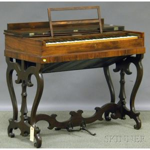 Victorian Rosewood Veneer Melodeon