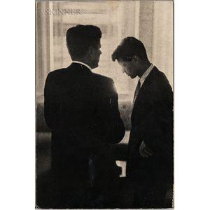 Jacques Lowe (German/American, 1930-2001)      John F. Kennedy and Robert F. Kennedy, Biltmore Hotel, Los Angeles