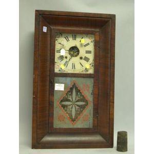 Sperry & Shaw Mahogany Veneer Ogee Mirrored Mantel Clock.