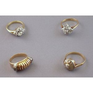 Four Gold and Diamond Rings