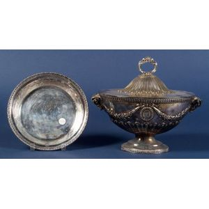 English Silver Plated Neoclassical-style Covered Tureen