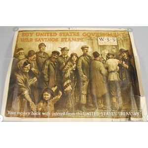 WWI Poster: Buy United States Government War Savings Stamps