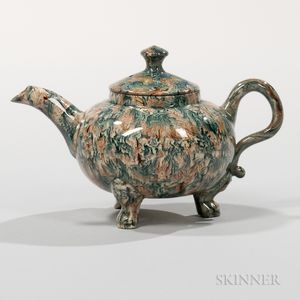 Staffordshire Solid Agate Teapot and Cover