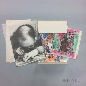 Nine Folios of Munakata Shiko Woodblock Prints
