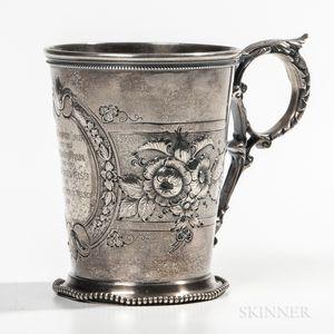 William C. Vanderslice Coin Silver Christening Cup