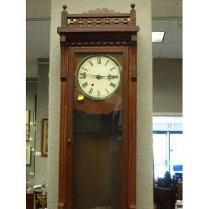 Eastlake-type Walnut Regulator Wall Clock.