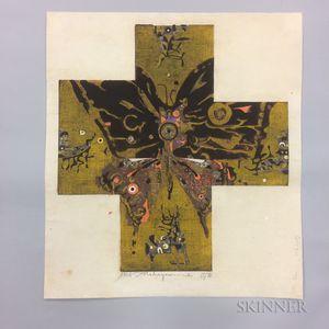 Untitled Tadashi Nakayama (1927-2014) Woodblock Print