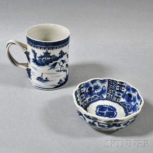 Blue and White Bowl and Export Mug