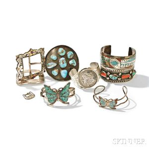 Little Jimmy Dickens     Group of Sterling Silver Jewelry and Accessories