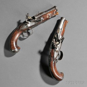 Pair of Continental Flintlock Pistols