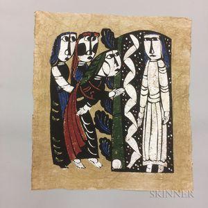 Untitled Sadao Watanabe (1913-1996) Color Woodblock Print