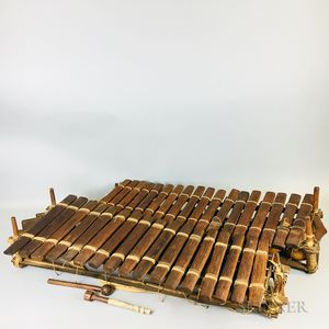 Two African Marimbas or Balafons