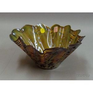 Kurt Walrath Tortoiseshell Glass Berry Bowl