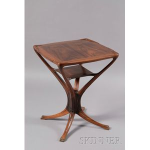 Art Nouveau Carved Rosewood Side Table