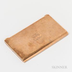 Tiffany & Co. 14kt Gold Cigarette Paper Case
