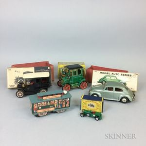 Five Toy Cars