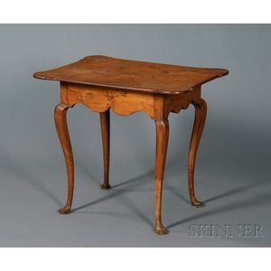 Queen Anne Tiger Maple Table