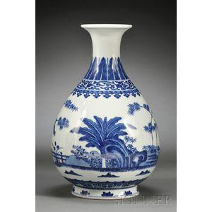 Blue and White Yuhuchun Vase