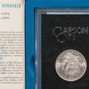 1880-CC 8 Over High 7, VAM 3A, GSA Morgan Dollar