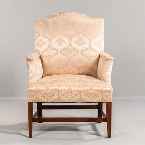 Small Upholstered Mahogany Armchair
