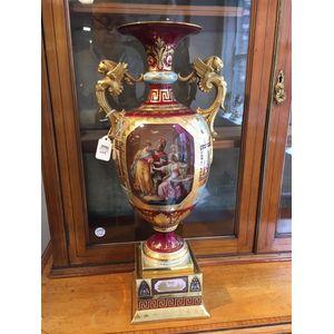 Royal Vienna Porcelain Handpainted Vase