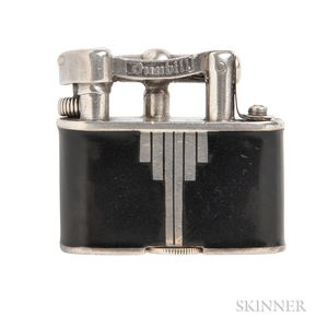 Art Deco Silver and Enamel Lighter, Dunhill