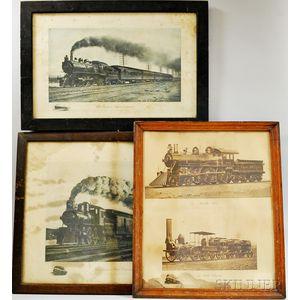 Three Framed Railroad Prints