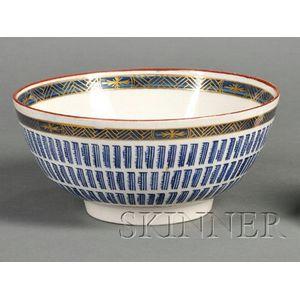 Worcester Porcelain Music Pattern Bowl